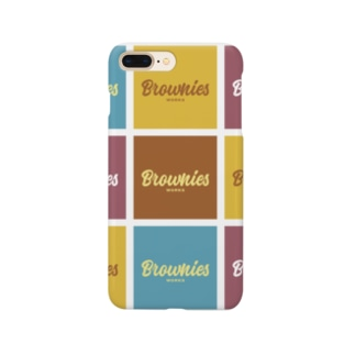 Brownies Worksカラフルロゴ Smartphone cases