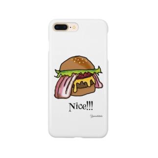 ベーコンチーズバーガー Smartphone cases
