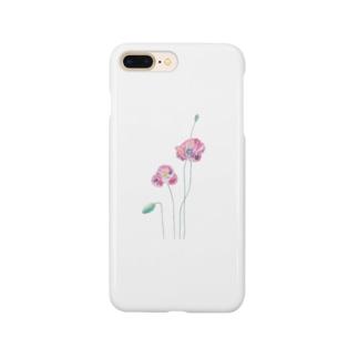 ポピーと虫(kitsuneのポップアートシリーズ) Smartphone cases