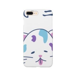 ゆるニャンコ(真夏に溶けそうな夏バテ猫ちゃん) Smartphone cases