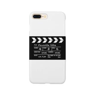 映画撮影 カチンコ Smartphone cases