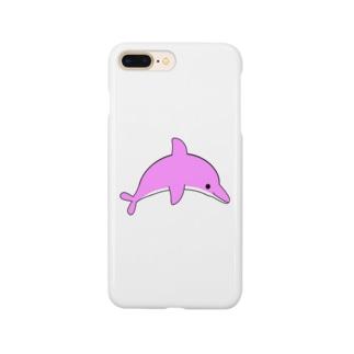 イルカさん(桃) Smartphone cases