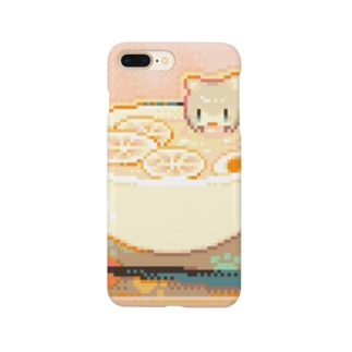 塩レモン冷やしラーメンに浸かるニャンニャン Smartphone cases