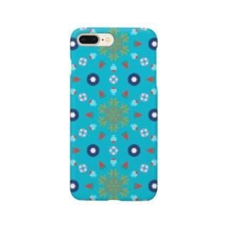 夏といえば(水色) Smartphone cases