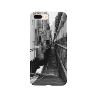 路地裏の先(モノクロ) Smartphone cases