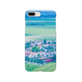三角屋根の家と緑 風景 Smartphone cases