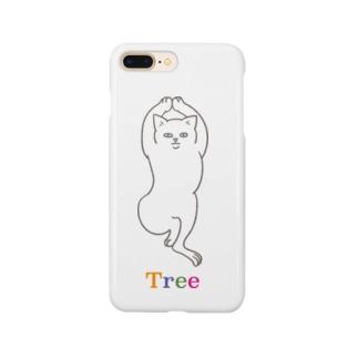 ヨガ猫 ツリーのポーズ Smartphone cases