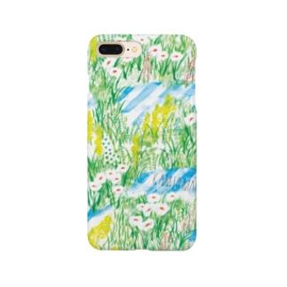 草原柄のスマホケース Smartphone cases