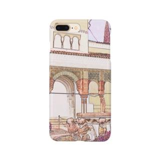 CG絵画:アルハンブラ宮殿 CG art: Court of the Lions/Alhambra/Granada Smartphone cases