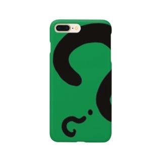 ハテナさん黒 Smartphone cases
