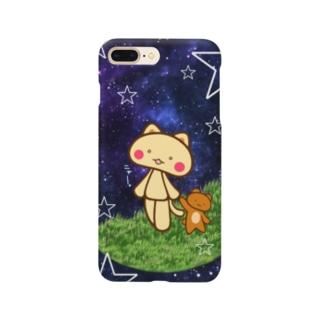 星空を散歩するネコ。 Smartphone cases
