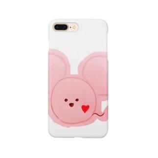 ネズミ ピンク Smartphone cases