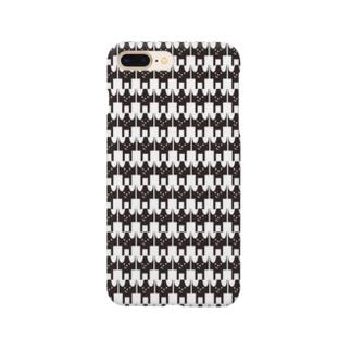 モノトーンワンコ Smartphone cases