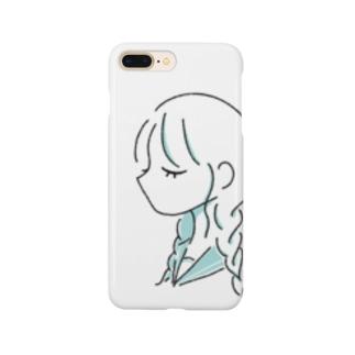 涼しげなおさげの女の子 Smartphone cases