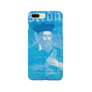 ノストラダムス_予言コラージュ_ブルー Smartphone cases