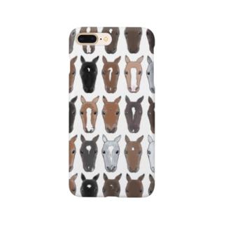 輓馬のお顔ぎっしりver.01 Smartphone Case