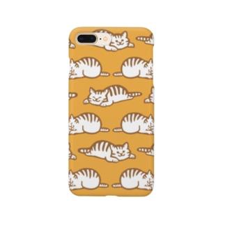 しましまマーチ 黄色 Smartphone cases