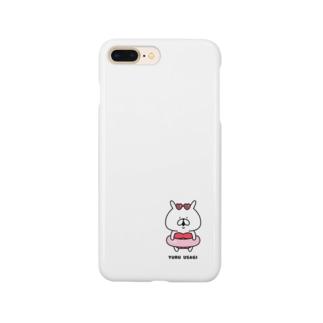 ゆるうさぎ 赤色ビキニ Smartphone cases