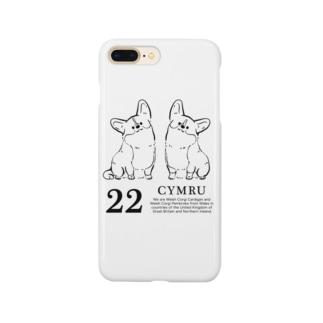 1色コーギーたち Smartphone cases