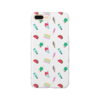 懐かしの夏菓子柄 Smartphone cases