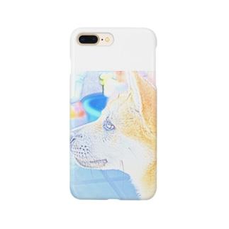 柴犬 夏のまるちゃん Smartphone cases