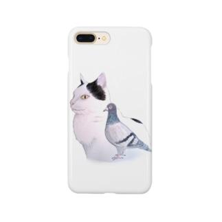 猫とハト Smartphone cases