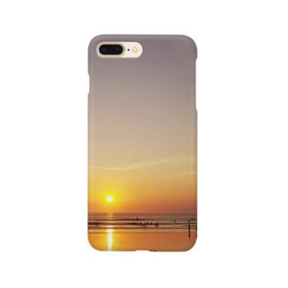 バリ島の夕日 Smartphone cases