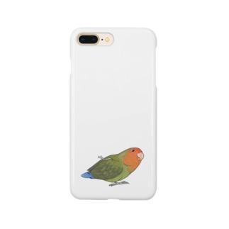 おすましコザクラインコ きなこちゃん【まめるりはことり】 Smartphone cases