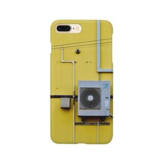 室外機 黄色 Smartphone cases