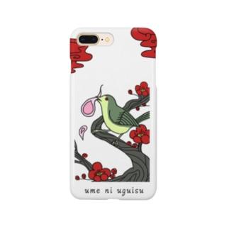 梅に鶯 Smartphone cases