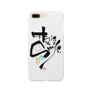 マイア グラフィックス maiagraphicsのThis is 笑顔 Smartphone cases