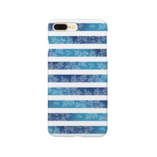 縞々の森(クリア) Smartphone cases