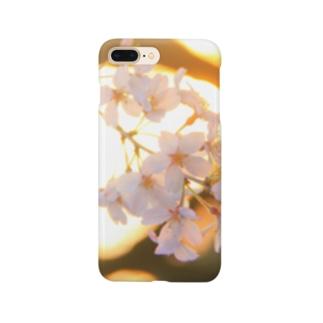 夕暮れの桜 Smartphone cases