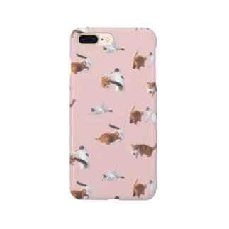 ナナポンファイトスマホケース(ピンク) Smartphone cases