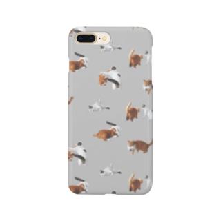 ナナポンファイトスマホケース(グレー) Smartphone cases