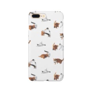 ナナポンファイトスマホケース(白) Smartphone cases