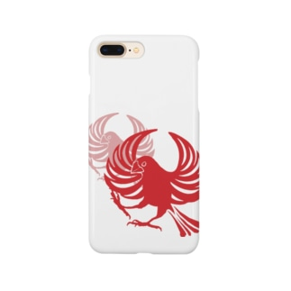 文鳥紋~紅 Smartphone cases