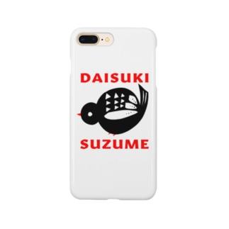 すずめさん(小) Smartphone cases