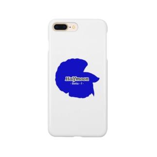 Halfmoon Betta①Mediumblue Smartphone Case