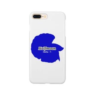 Halfmoon Betta①Mediumblue Smartphone cases