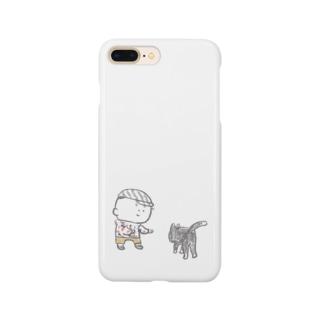 猫にちょっかいだす夫・サミ太郎 Smartphone cases