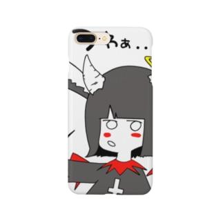 堕天使ちゃん😈👼🏻【リニューアル】 Smartphone cases