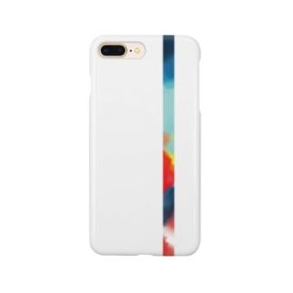 水彩風(青) Smartphone cases