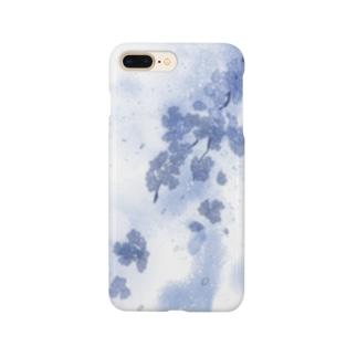 彼岸の青鈍(桜) Smartphone cases