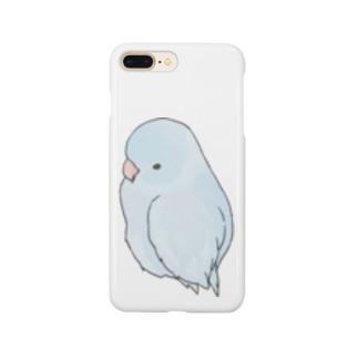 可愛いアメリカンホワイト マメルリハちゃん【まめるりはことり】 Smartphone cases