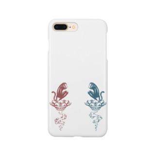 LIFE_soyogidesignの阿吽梵猿くん Smartphone cases