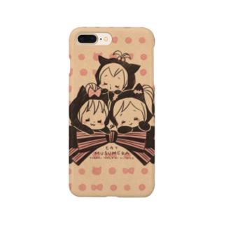 ムスメら(ネコリボン・クラフト) Smartphone cases
