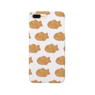 夕日色のたい焼き Smartphone cases