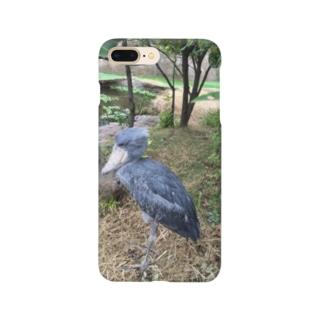 動かない鳥ハシビロコウ Smartphone cases
