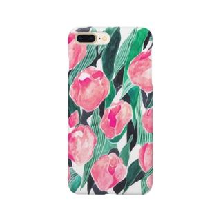 チューリップ_pink Smartphone Case